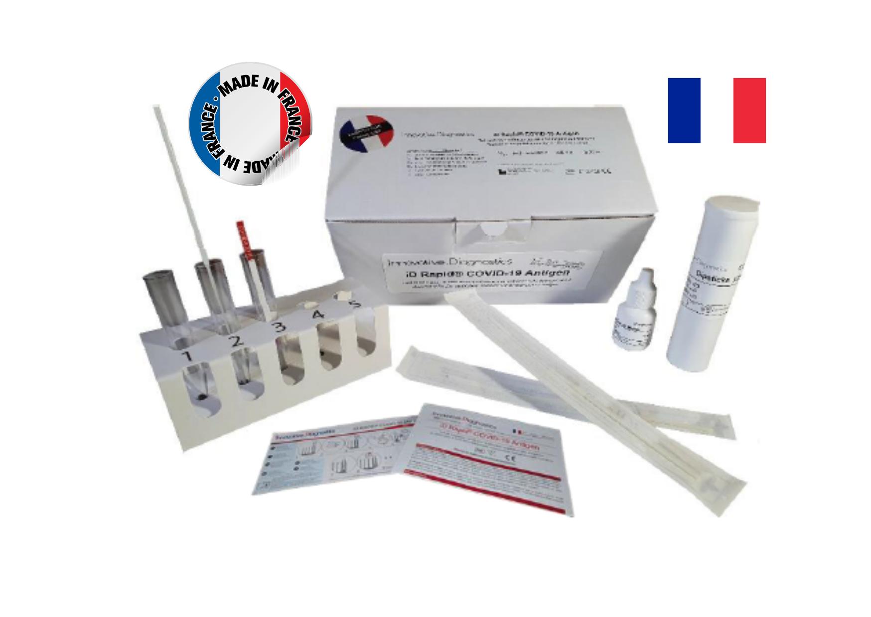 test antigénique fabriqué en france pour dépistage covid-19